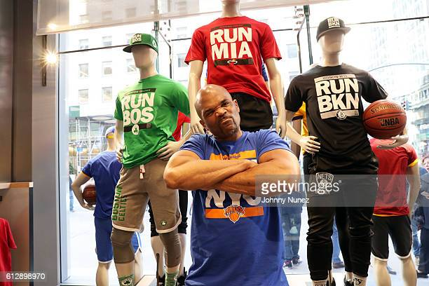 Darryl 'DMC' McDaniels attends the Fanatics RUNCTY Launch at NBA Store on October 5 2016 in New York City