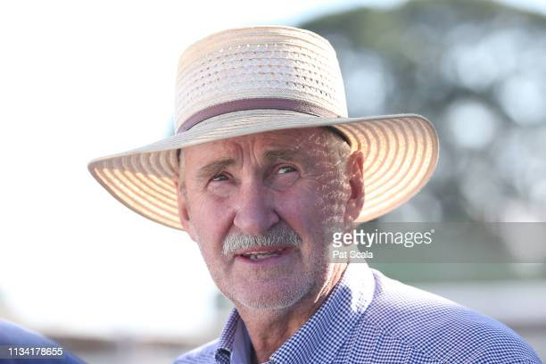Darryl Dodson after his horse Dr Dee Dee won the Taylor Motors BM58 Handicap at Hamilton Racecourse on April 01 2019 in Hamilton Australia