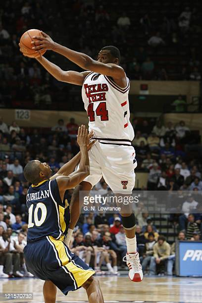 Darryl Dora of Texas Tech grabs the ball during semifinal action between Texas Tech and Marquette at the annual CBE Classic at Municipal Auditorium...