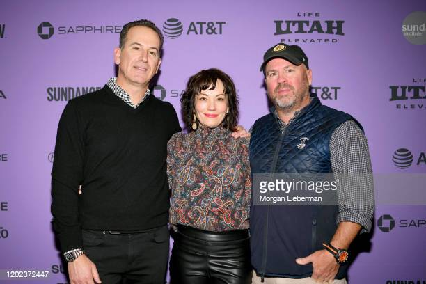Darryl Frank Natasha Gregson Wagner and Justin Falvey attend the 2020 Sundance Film Festival Natalie Wood What Remains Behind Premiere at The Marc...