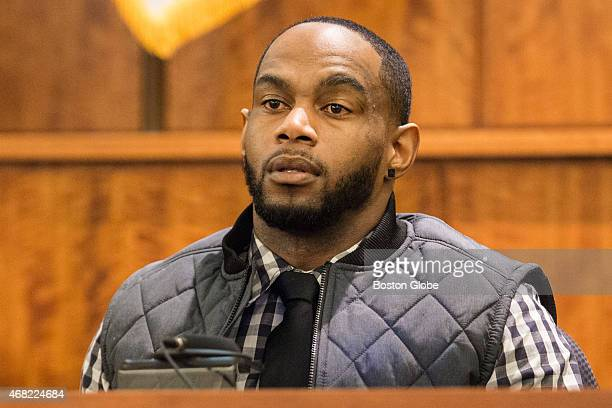 Darryl Hodge testifies during the murder trial of former New England Patriots tight end Aaron Hernandez at Bristol County Superior Court in Fall...