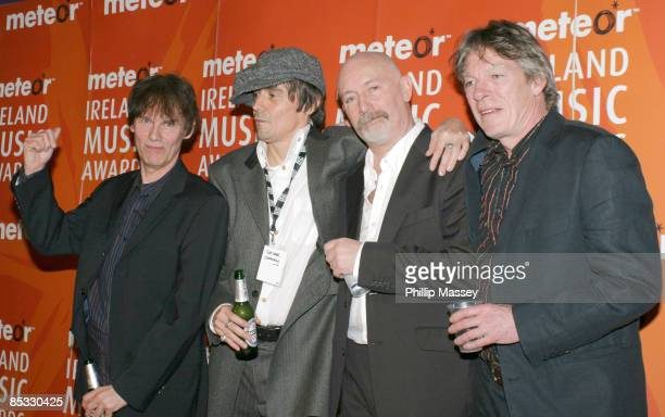 Darryl Hunt Spider Stacy Terry Woods and Andrew Ranken of The Pogues who received a Lifetime Achievement Award