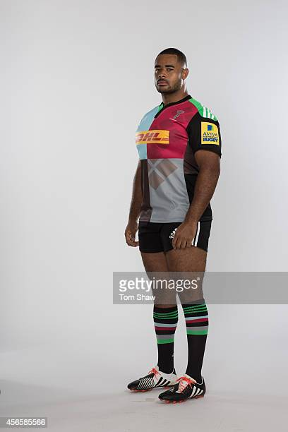 Darryl Marfo of Harlequins poses for a picture during the photoshoot for BT Sport on August 18 2014 in London England