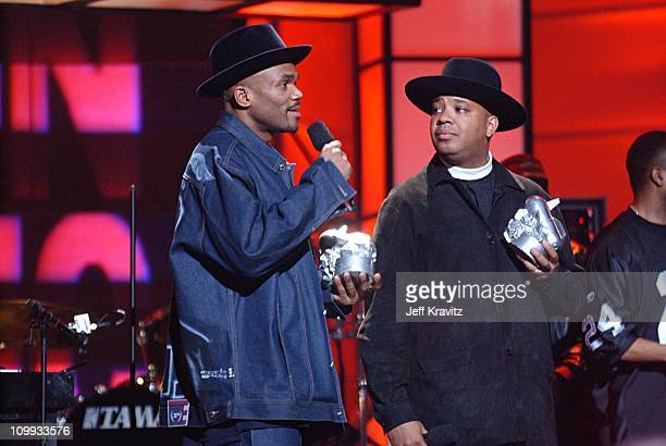 Darryl McDaniels and Joseph Simmons during VH1 Big in 2002 Awards Show at Grand Olympic Auditorium in Los Angeles California United States