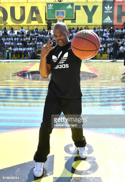 Darryl McDaniels 'DMC' at adidas Creates 747 Warehouse St an event in basketball culture on February 17 2018 in Los Angeles California