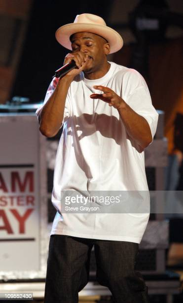Darryl McDaniels of RunDMC during The 3rd Annual BET Awards Rehearsals Day Two at The Kodak Theater in Hollywood California United States