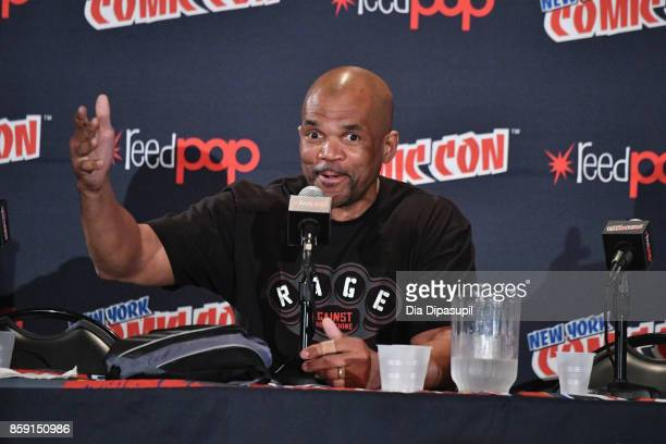 Darryl McDaniels speaks at the Boom! Bap! POW! Panel during the New York Comic Con 2017 on October 8, 2017 in New York City.