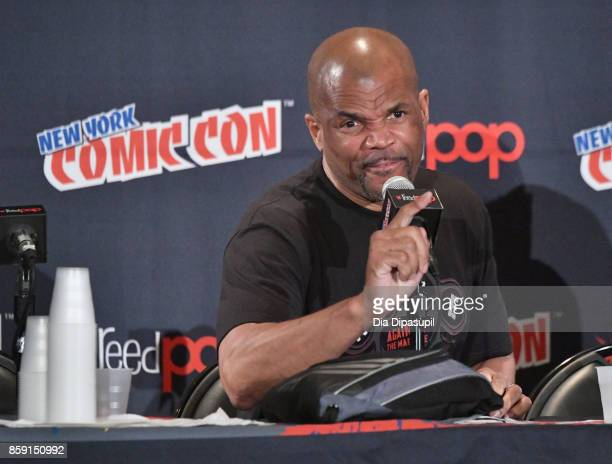 Darryl McDaniels speaks at the Boom Bap POW Panel during the New York Comic Con 2017 on October 8 2017 in New York City