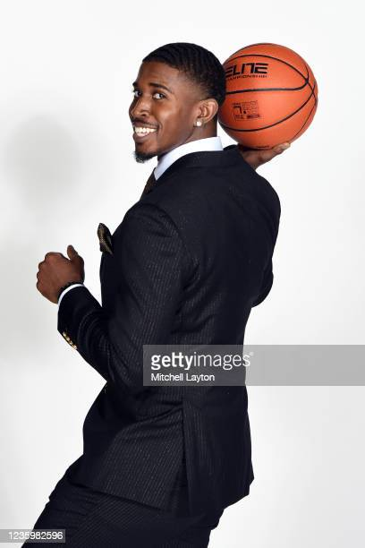 Darryl Morrell of the Marquette Golden Eagles poses for a photo during the Big East Media Day at Madison Square Garden on October 19, 2021 in New...