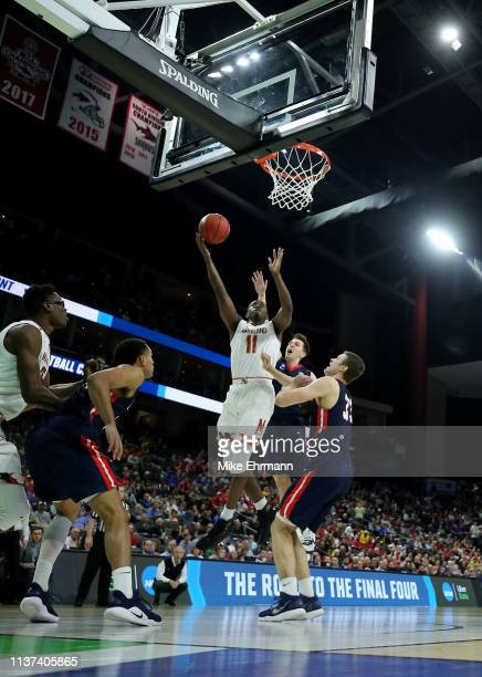 Darryl Morsell of the Maryland Terrapins takes a shot against the Belmont Bruins in the first half during the first round of the 2019 NCAA Men's...