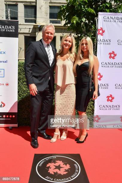 Darryl Sittler and family attend 2017 Canada's Walk Of Fame Star Unveiling at David Pecaut Square on June 7 2017 in Toronto Canada