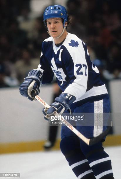 Darryl Sittler of the Toronto Maple Leafs skates on the ice during an NHL game circa 1981