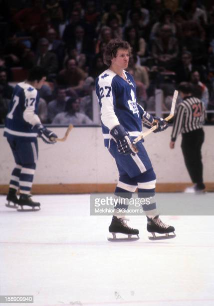 Darryl Sittler of the Toronto Maple Leafs skates on the ice during an NHL game circa 1972