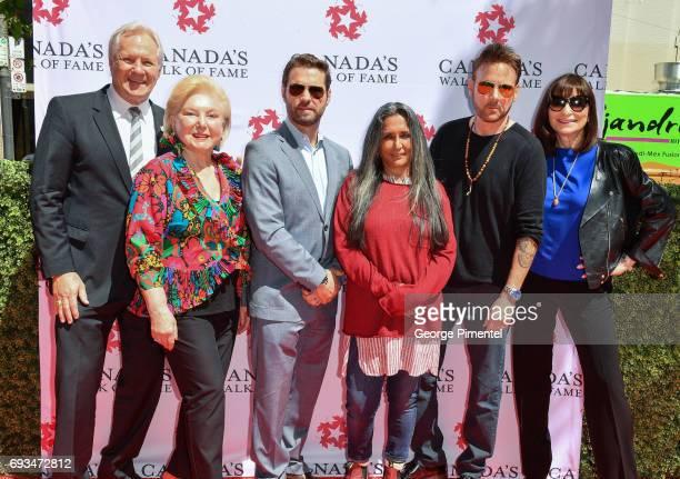 Darryl Sittler Sara Waxman Jason Priestley Deepa Mehta Corey Hart and Jeanne Beker attend 2017 Canada's Walk Of Fame Star Unveiling at David Pecaut...