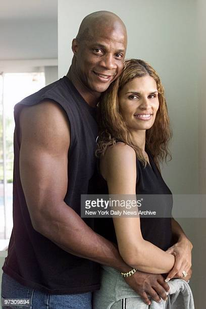 Darryl Strawberry and his wife Charisse at home in Tampa Fla