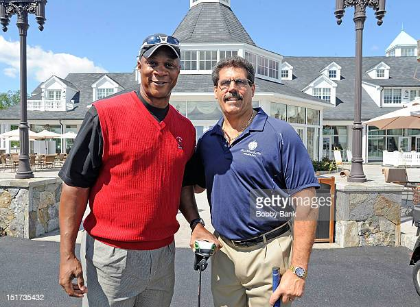 Darryl Strawberry and Matthew F Calamari COO The Trump Organization attend the Eric Trump Foundation's 6th Annual Golf Invitational Benefiting The St...