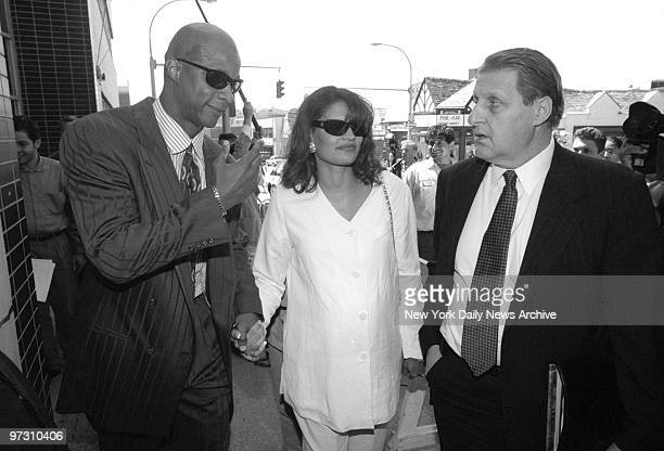 Darryl Strawberry leaving the US Courthouse in White Plains with his wife Charisse after sentencing