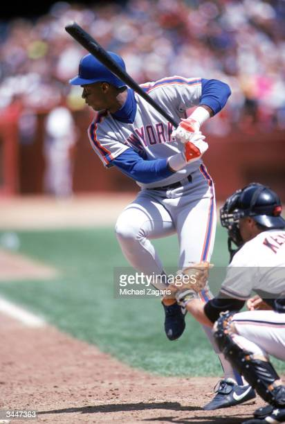 Darryl Strawberry of the New York Mets prepares to swing the bat during the 1990 MLB Season