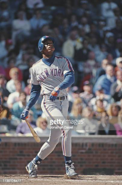 Darryl Strawberry Outfielder for the New York Mets during the Major League Baseball National League East game against the Chicago Cubs on 29 July...