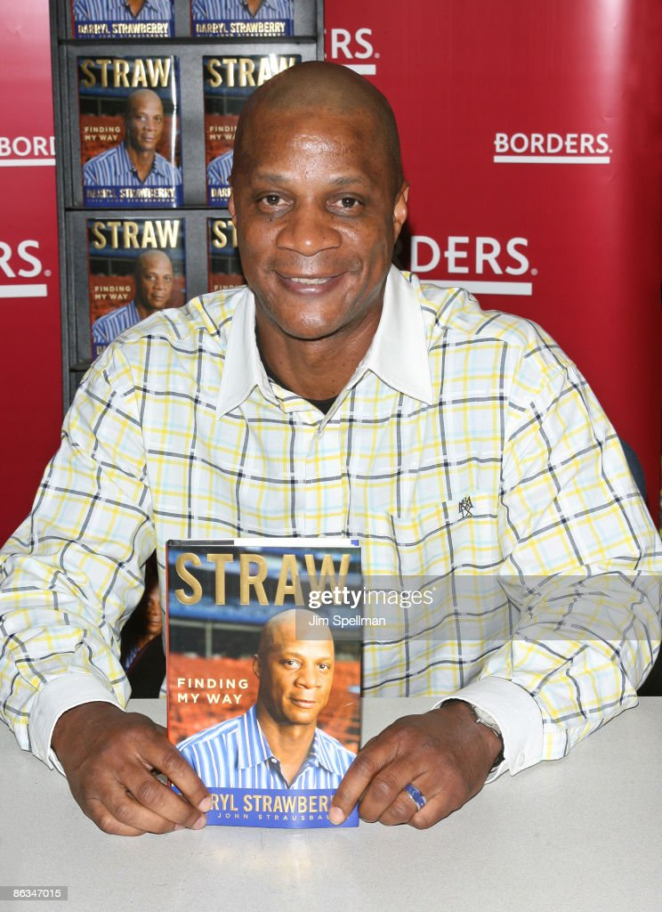 Darryl Strawberry promotes 'Straw' at Borders Wall Street on May 1, 2009 in New York City.