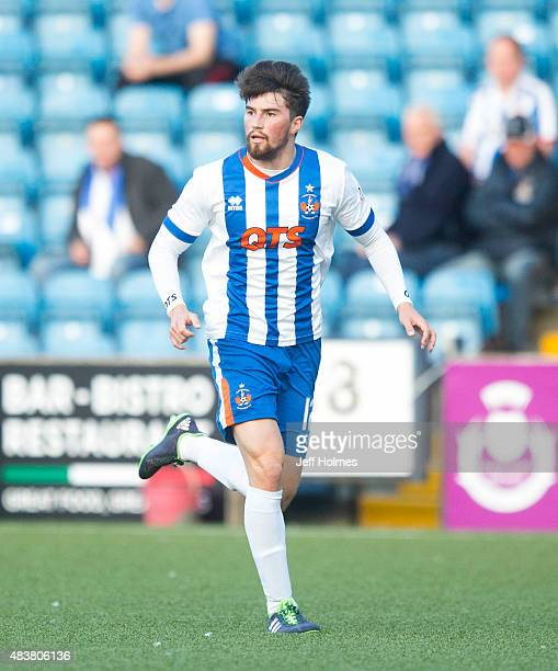 Darryl Westlake of Kilmarnock in action during the Scottish premiership match between Kilmarnock and Celtic at Rugby Park on August 12 2015 in...