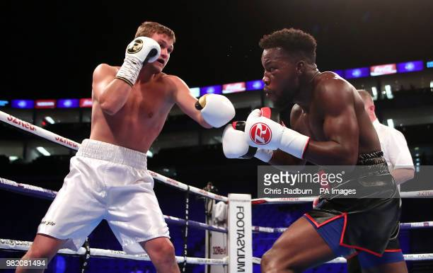 Darryl Williams and Raimond Sniedze in the International SuperMiddleweight Contest at The O2 London