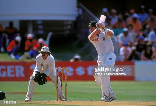 Darryll Cullinan and Jack Russell South Africa v England 4th Test Port Elizabeth Dec 95