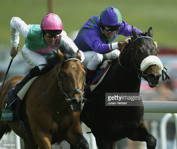 Darryll Holland and Franklins Gardens get the better of the Richard Hughes ridden Gala Sunday to land The Weatherbys Blue Riband Trial Stakes Race...