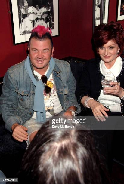 Darryn Lyons and Sharon Osbourne attend a private party at Ronnie Scott's hosted by Gary Farrow on March 15 2007 in London England