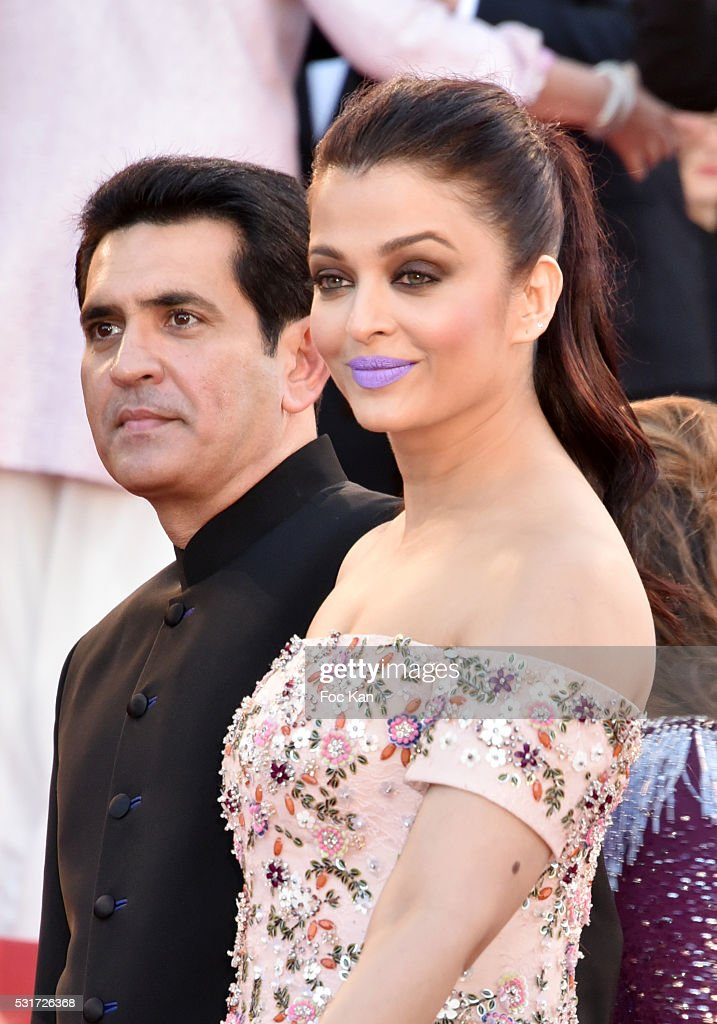 Darshan Kumaar Aishwarya Rai attend the 'From The Land Of The Moon ' premiere during the 69th annual Cannes Film Festival at the Palais des Fe