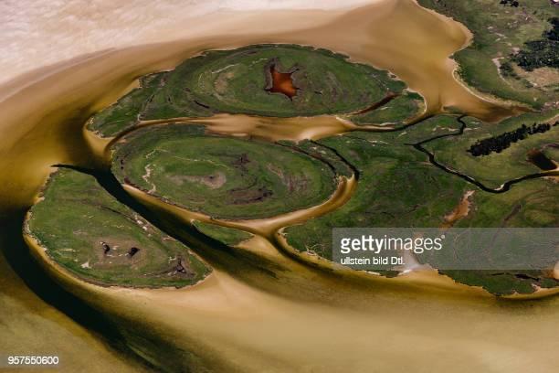 Darss Island of kleine Werder MecklenburgWestern Pomerania Germany aerial view May 27 2017