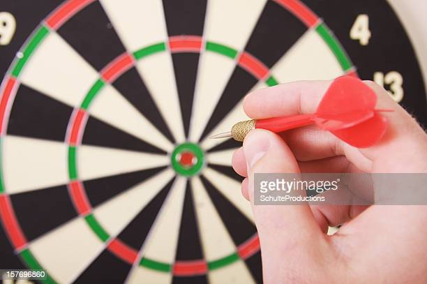 Dart Board and Player