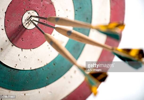 dart board with selective focus - sports target stock pictures, royalty-free photos & images