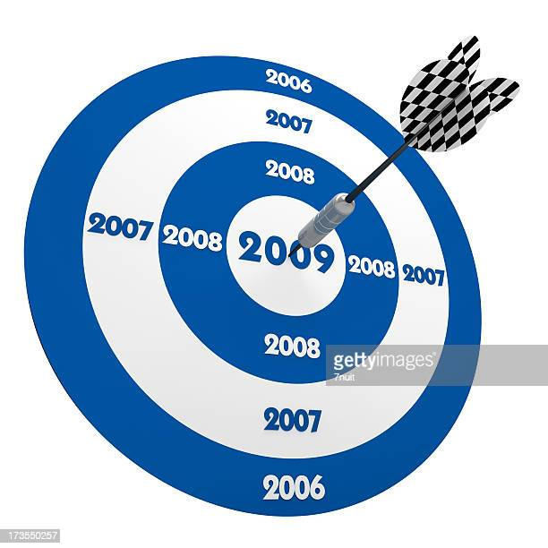 3D Dart in Center of 2009 Blue Target