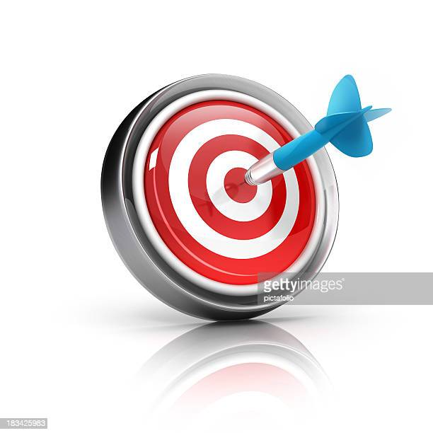 dart target icon - marketing icons stock photos and pictures