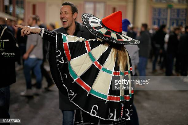 Dartboard costume before the Gary Anderson v Adrian Lewis PDC World Darts Championship Final on January 3rd 2016 in London