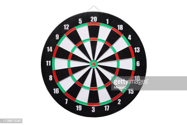 dartboard isolated on white background - dartboard stock pictures, royalty-free photos & images