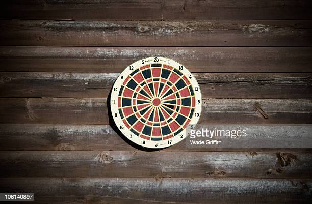 dartboard - target center stock pictures, royalty-free photos & images