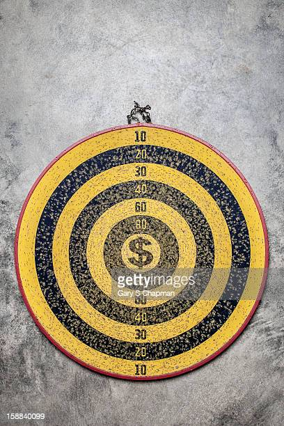 Dartboard with a dollar sign center