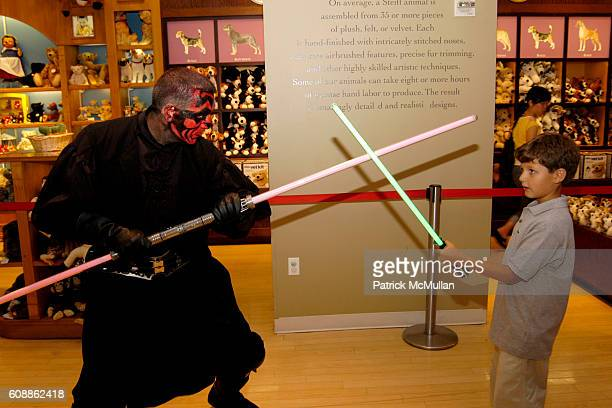 Darth Maul and Max Rubinstein attend Max Rubinstein's 7th Birthday Party at FAO Schwarz NYC on August 2 2007