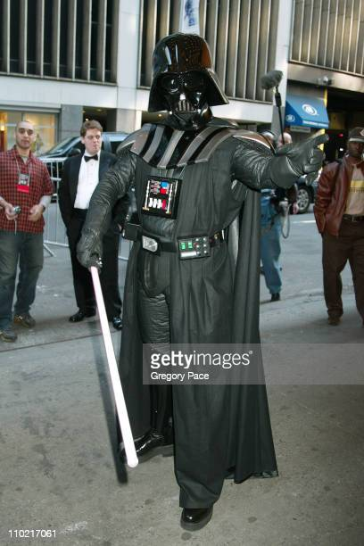 Darth Vadar during 'Star Wars Episode III Revenge Of The Sith' New York City Benefit Premiere Inside Arrivals at Ziegfeld Theater in New York City...