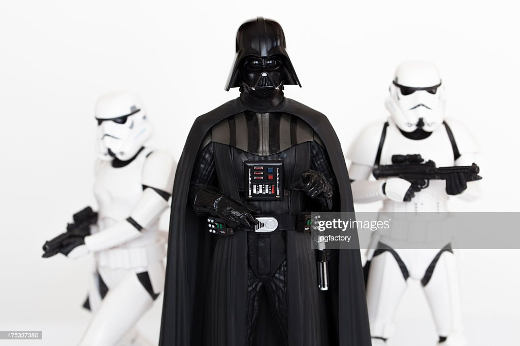 Darth Vader and Stormtroopers : Stock Photo