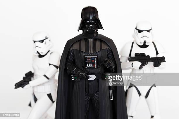 darth vader and stormtroopers - star wars stock pictures, royalty-free photos & images
