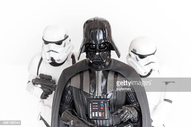 darth vader and stormtroopers - famous people stock photos and pictures