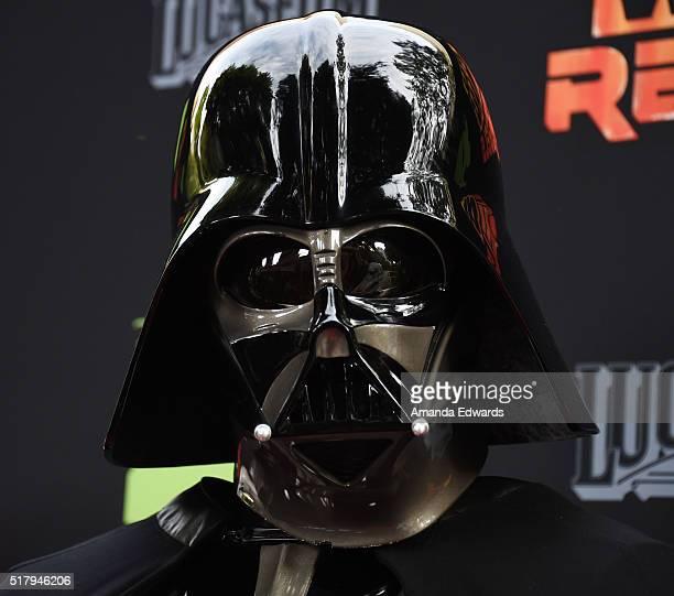 Darth Vader arrives at Disney XD's Star Wars Rebels Season 2 finale event at Walt Disney Studios on March 28 2016 in Burbank California