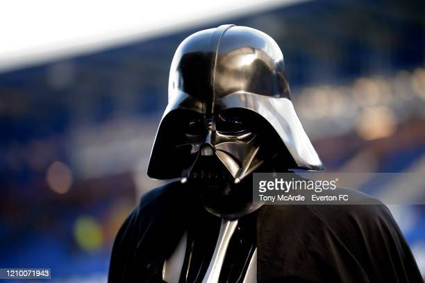 Darth Vader at Goodison Park before the Premier League match between Everton FC and Manchester United at Goodison Park on March 1 2020 in Liverpool...