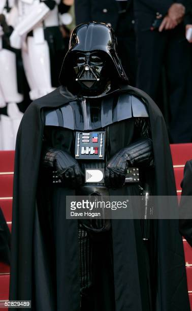 Darth Vader attends a screening of ' Star War III Revenge of the Sith' at the Grand Theatre during the 58th International Cannes Film Festival May 15...
