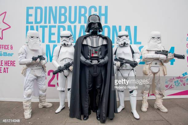 Darth Vader attends for 'Star Wars Episode V The Empire Strikes Back' photocall at Filmhouse during the Edinburgh International Film Festival on June...