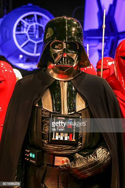 Darth Vader character during the German premiere for the film 'Star Wars The Force Awakens' at Zoo Palast on December 16 2015 in Berlin Germany