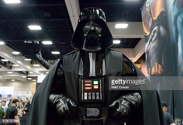 Darth Vader cosplayer attends ComicCon International 2016 preview night on July 20 2016 in San Diego California